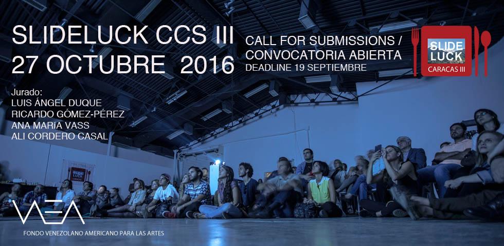 09/19/16 Slideluck Caracas III Open Call / Convocatoria
